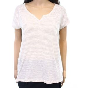Madewell Striped T-Shirt White Beige Large